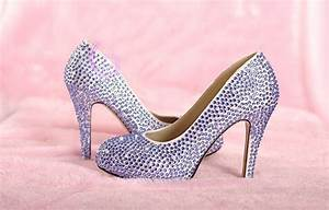 Light Purple Rhinestone Wedding Bridal Shoes fashion ...