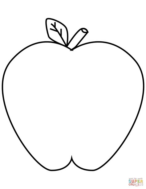 green apple coloring page  printable coloring pages