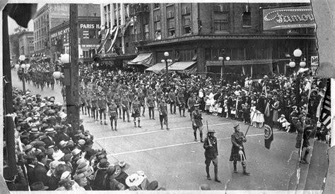 Armistice Day Parade, 1919  Vintage Portland