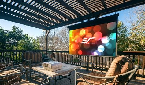 Elite Launches Motorized Outdoor Projection Screen