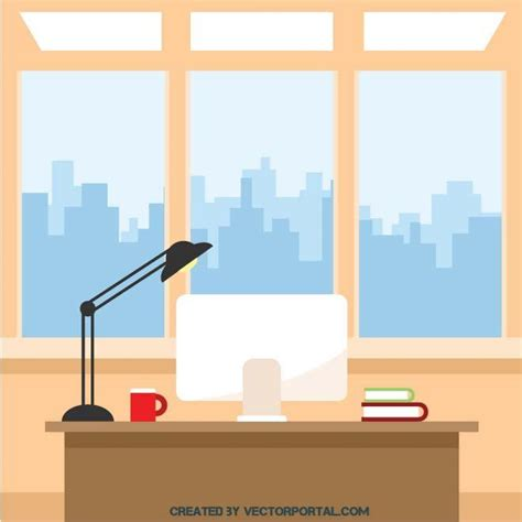 office clipart office interior clip free vector image in ai and eps