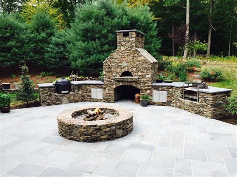 Outdoor Kitchen With Pizza Oven Fire Pit Smoker And
