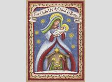 Madonna and Child Nativity Religious Christmas Card by LPG