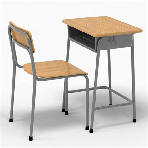 schoolhouse desk and chair desk and chair 3d model cgtrader