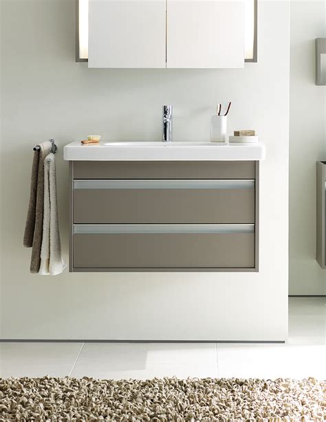 Duravit Vero Basin Vanity Unit by Duravit Ketho 650mm Vanity Unit With 2 Drawer And 700mm Basin