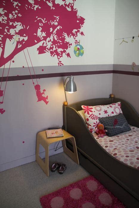 deco chambre fille gris  rose visuel