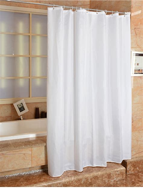 fabric shower curtain plain white wide