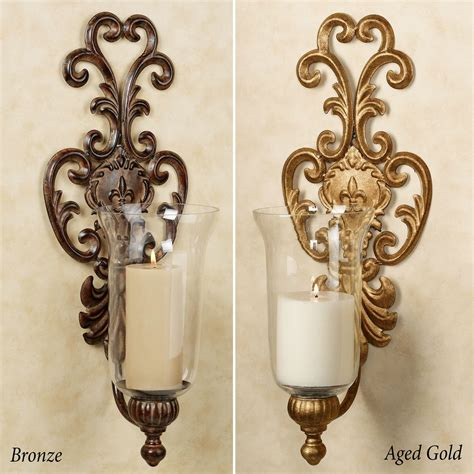 decorative candle sconces asciano hurricane wall sconce