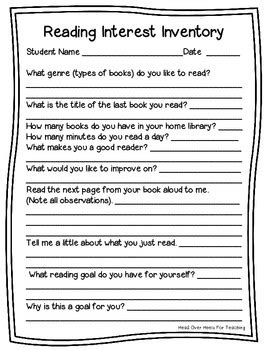 reading interest inventory  joanne miller teachers pay
