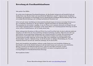 Bewerbung Kaufmann Im Einzelhandel : bewerbungsschreiben f r einzelhandel bewerbungsforum ~ Orissabook.com Haus und Dekorationen