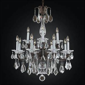 Light chandelier old world m glow