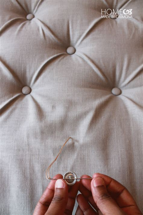 How To Do Tufting Upholstery by Diy Tufted Headboar