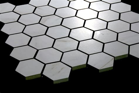 Carrara Marble Tiles Melbourne by Carrara Marble White Matt Hexagon Mosaic 310x324 Tiles