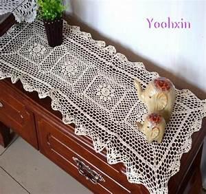Chemin De Table Moderne : acheter moderne blanc coton chemin de table couverture chemin e crochet dentelle ~ Teatrodelosmanantiales.com Idées de Décoration