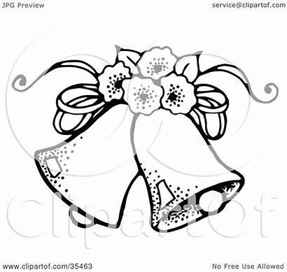 Bells Flowers Clipart Bridal Doves Bouquet Bride