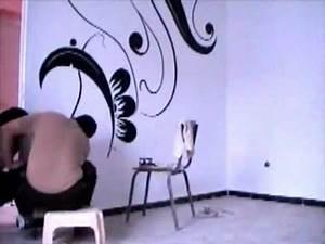 dessin et peinture sur le mur 4 youtube With decoration mur exterieur jardin 5 decoration salon peinture mur