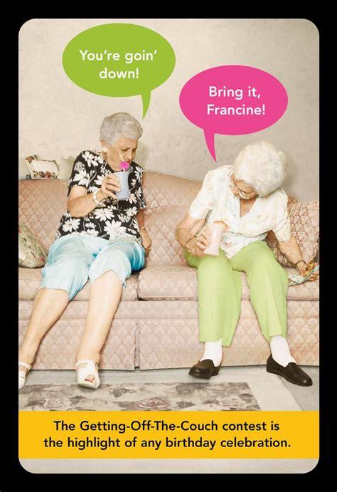 Old Age Antics Funny Birthday Card - Greeting Cards - Hallmark