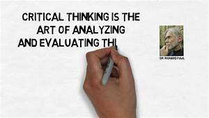 What Is Critical Thinking  A Definition