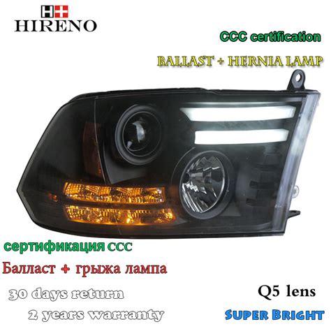 hireno headl for 2013 2015 dodge ram 1500 headlight assembly led drl lens double beam