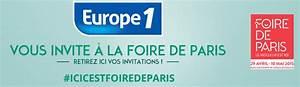 Code Invitation Foire De Paris : 2 billets gratuits pour la foire de paris 2015 offert par europe 1 le bon plan ~ Medecine-chirurgie-esthetiques.com Avis de Voitures