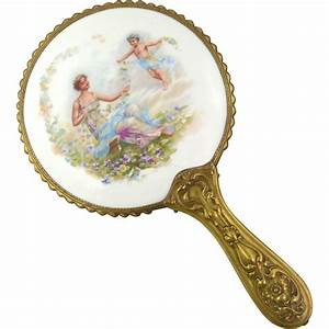 Antique Hand Held Vanity Mirror from millcovetreasures on ...