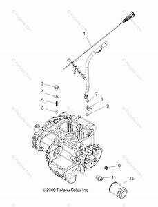 Polaris Side By Side 2017 Oem Parts Diagram For Engine  Oil Filter  U0026 Dipstick