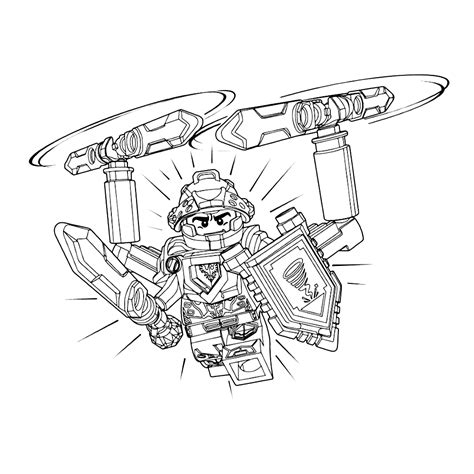 leuk voor kids kleurplaat lego nexo knights ridder