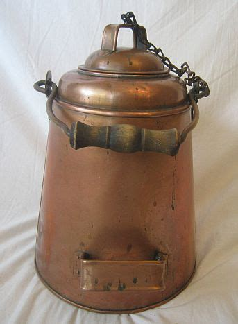 authentic late   early   navy copper  brass coffee pot mess deckmess hall