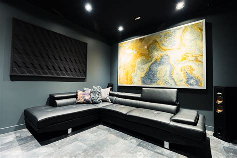 ultra modern theater room man cave reveal diy mommy