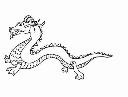 Dragon Chinese Coloring Printable Drawing Pages