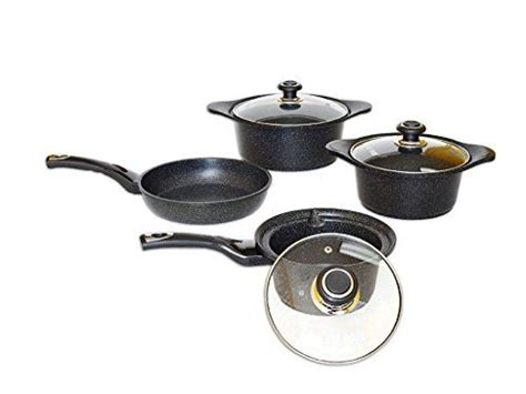 home  kitchenware collection premium pc marble coated cookware set marble pan  pot set