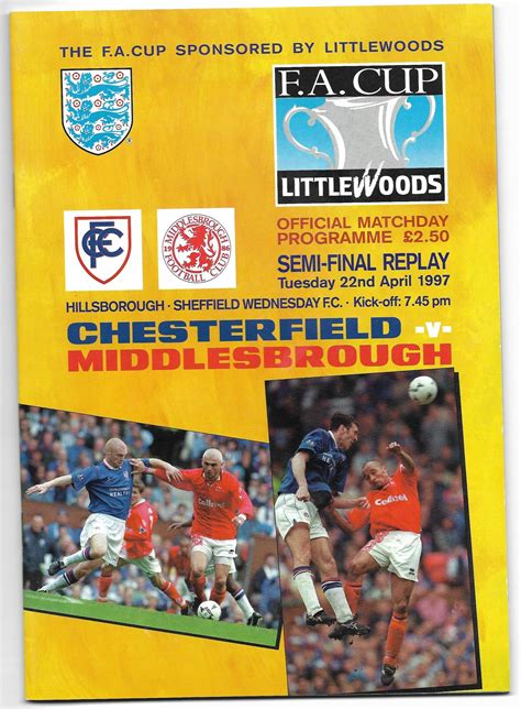 Chesterfield v Middlesbrough 1997 FA Cup Semi Final Replay ...