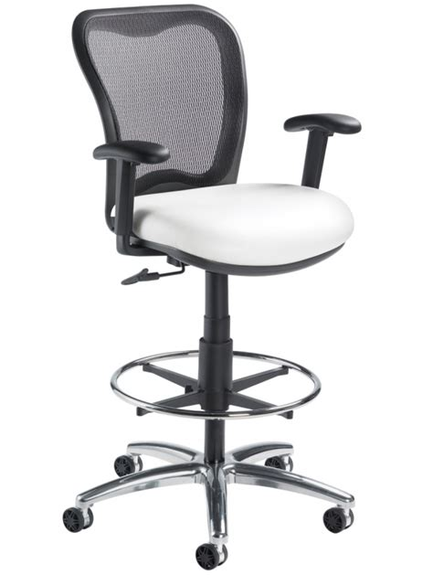 nightingale lxo 6000ds mid back mesh drafting stool on sale