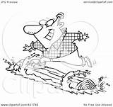 Lumberjack Log Rolling Coloring Royalty Cartoon Outline Clip Rf Toonaday Illustration Getcolorings Printable Clipart sketch template