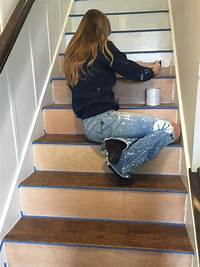 how to install carpet on stairs Stairway Makeover - Swapping Carpet for Laminate - The ...