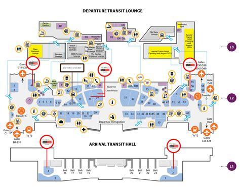 map  changi airport terminal