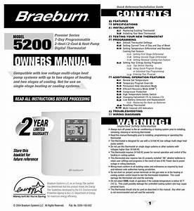 Braeburn 5200 Owner U0026 39 S Manual Pdf Download