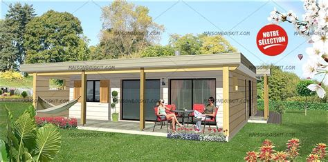 amenagement sous sol en chambre maison bois moderne 2 chambres terrasse et toit plat végétal