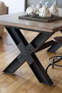 les 25 meilleures idees de la categorie table industrielle With table fer et bois salle manger pour deco cuisine