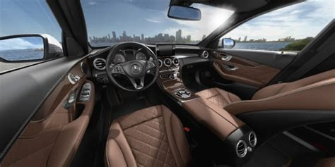 mercedes black leather 2017 mercedes c class interior color and material options