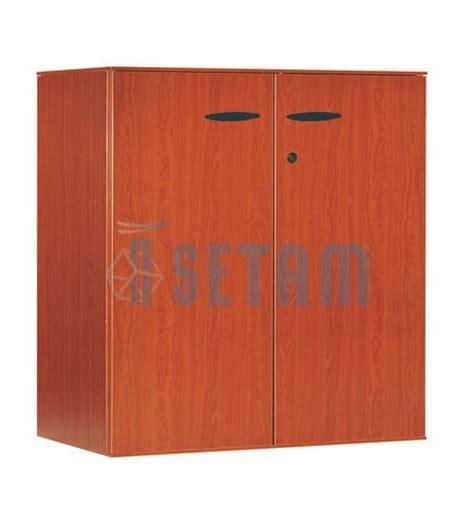 armoire basse bureau armoire bureau basse merisier 2 portes 1 tablette