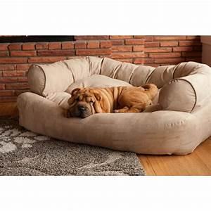 Snoozer, Pet, Products, -, Overstuffed, Sofa, Dog, Bed, -, Peat, -, Dog, Beds, -, Dogs