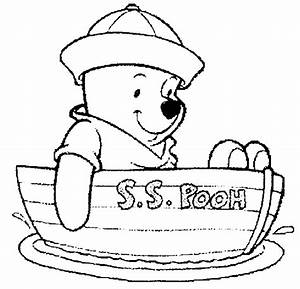 Winnie the Pooh coloring black and white ~ Child Coloring