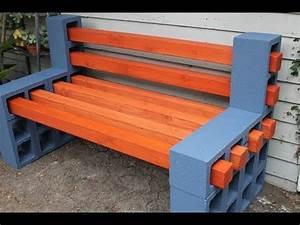 Fabriquer Un Banc De Jardin Original : comment faire un magnifique banc de jardin avec des blocs de cendres banc de jardin youtube ~ Melissatoandfro.com Idées de Décoration