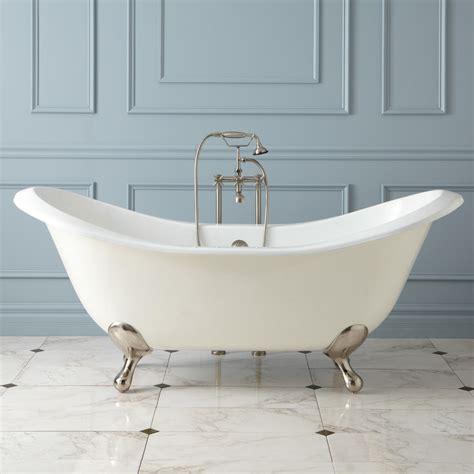 gretta cast iron double slipper clawfoot tub bathroom