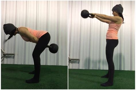 hinge hip swing movement kettlebell hinging swings movements strength