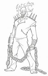 Coloring Pages Ghost Rider Colouring Printable Popular sketch template