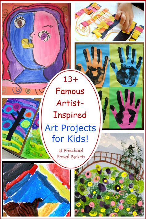 13+ Famous Artists Inspired Art Projects For Kids
