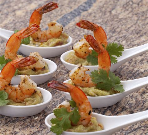 canapes recipes prawn and wasabi guacamole canapés recipe centre