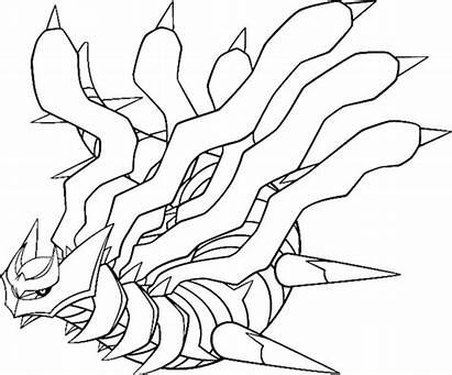 Coloring Giratina Pokemon Legendary Pages Groudon Rare